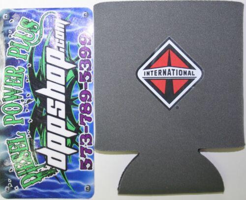International soda coozie cool cup hugie beverage beer holder powerstroke diesel