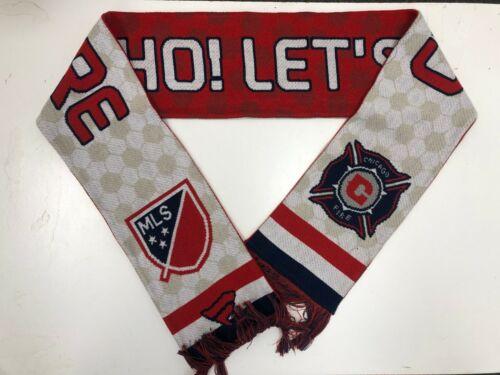 Les fanatiques de Chicago Fire MLS Club Hey Ho Lets Go écharpe-Taille Unique-Rouge//Blanc-Neuf