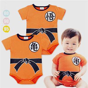 Dragon Ball Goku Costume Baby Newborn Boy Romper Bodysuit One-piece ... cac47a0dac