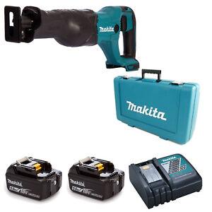 Makita 18 V LXT DJR186 DJR186Z Scie Alternative et 2 x BL1840 1 x DC18RC