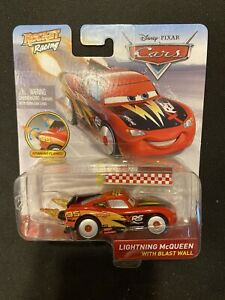 DISNEY PIXAR CARS Rocket Racing Lightning McQueen With Blast Wall (XRS) BNIB