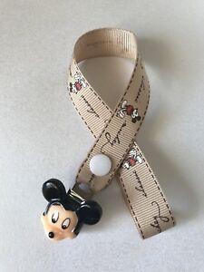 Fiable Mickey Mouse Classic Factices Sucettes Sucette Clip ~ Neuf ~ Pas De Perles ~ Café ~-afficher Le Titre D'origine La Qualité D'Abord