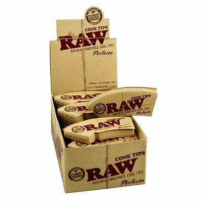 CHEMICAL AND CHLORINE FREE 1 x Pack x 21 RAW® Perfecto™ PER-ROLLED CONE Tips