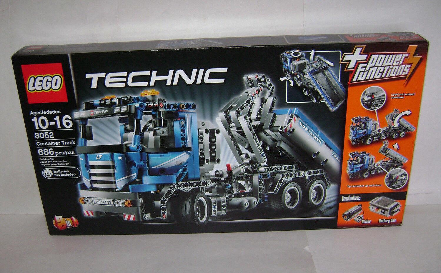Nuevo 8052 Lego Technic contenedor Camión Volquete Remolque edificio de energía un jubilado