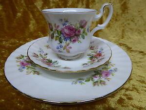 royal albert moss rose sammel gedeck sammelgedeck 3tlg porzellan bone china. Black Bedroom Furniture Sets. Home Design Ideas