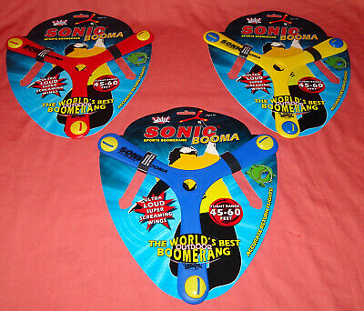Wicked Sonic Booma Loud Sports Boomerang Red and Yellow Lot of 2