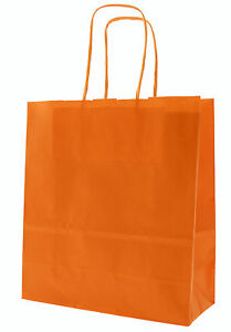 Naranja-Papel-Transportador-Bolsas-con-Retorcido-Tiradores-Tamano-20X-18x-8
