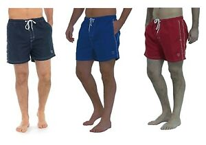 Mens-Plain-Swim-Shorts-with-Elasticated-Waist-Navy-Blue-or-Red