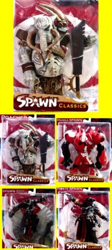 Spawn Series 34 New 4  Action Figure Set  2008 McFarlane Toys Poacher Amricons