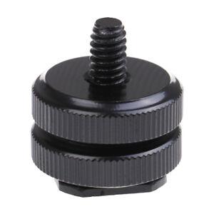 1/4 inch dual nut tripod mount screw to flash camera hot shoe adapter YH