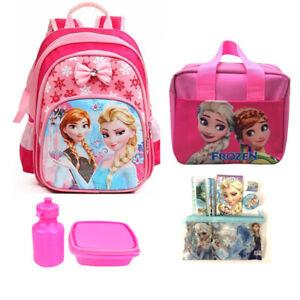 Frozen Girls Back to School Backpack Kids Rucksack Lunchbox Pencil Case