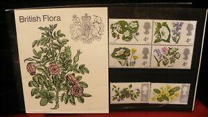 Royal-Mail-1967-presentation-pack-BRITISH-FLORA-MNH-P601