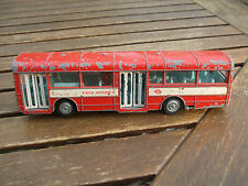 VINTAGE DINKY RED ARROW BUS opening doors and working bell