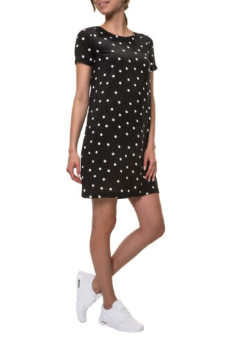 Only Damen Kleid Sommerkleid Shirtkleid Kurzarm O-Neck Print Kleid Color Mix NEU