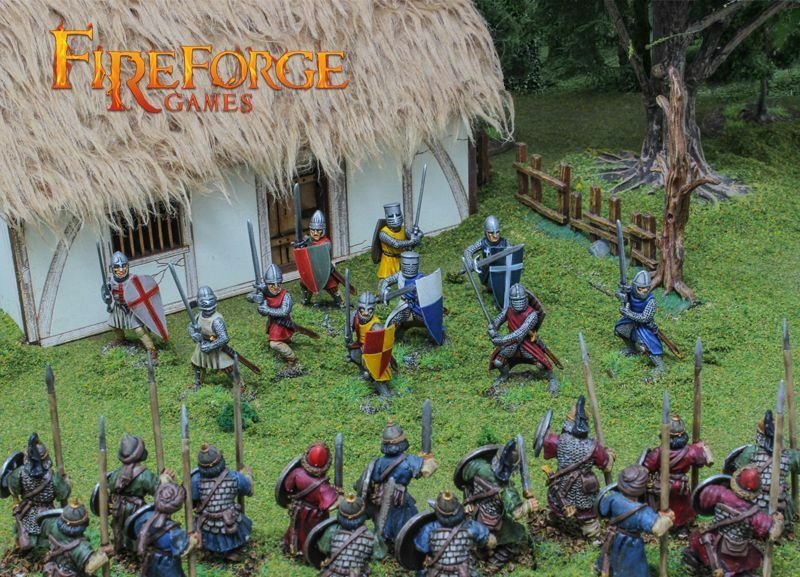 Foot Knights Xi-Xiiic. Fireforge Games Deus Vult Medieval Middle Ages Knights