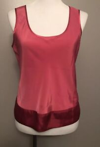 cc898b4726e53 Details about Victoria's Secret Satin Tank Top Dark Pink/Red Sleeveless  Size Small S