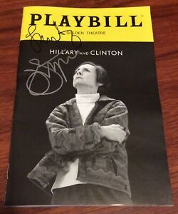 HILLARY AND CLINTON Playbill Broadway JOHN LITHGOW LAURIE METCALF NY PREMIERE !