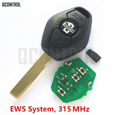 Car Remote Key For Bmw Ews 1 3 5 7 Series X3 X5 Z3 Z4 With Id44 Chip 315mhz Hu92 Ebay