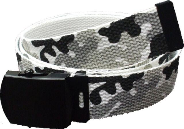 web belt military style woodland camo reversible rothco 4178