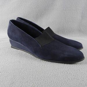 NIB-ARCHE-Emyone-Women-039-s-Dark-Blue-NUIT-Nubuck-Suede-Slim-Wedge-Heels-ANB