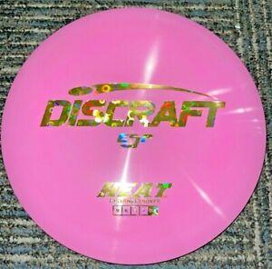NEW DISCRAFT SWIRLY ESP HEAT DISC GOLF DRIVER PINK/ GOLD FLOWERS 173-4G LSDISCS