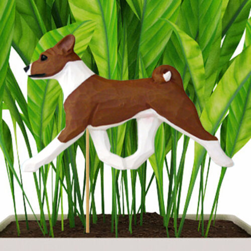 Basenji Planter Pick Stake Red