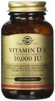 Solgar Vitamin D3 (Cholecalciferol) 10000 IU 120 softgels