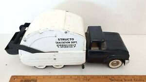 1960-039-s-STRUCTO-Sanitation-Dept-Truck-Nice-Original-Condition