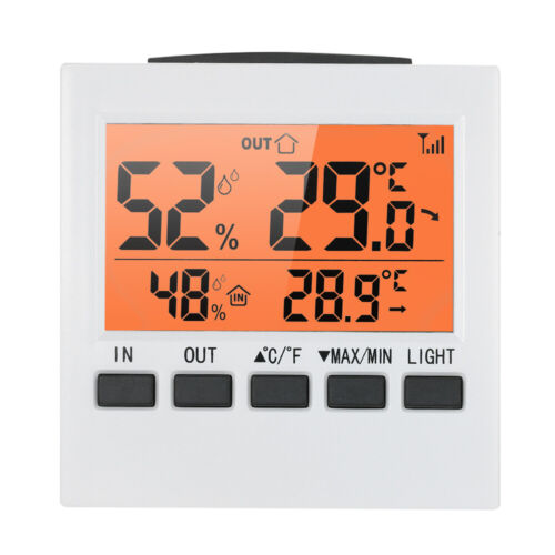 Thermomètre Hygromètre LCD pour intérieur extérieur sans fil ℃//℉ U5K9