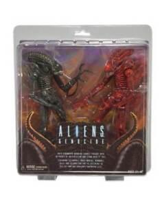 Aliens Genocide 2 Pack Jeu de figurines, Xenomorph ~ neca ~ moc rouge et noir