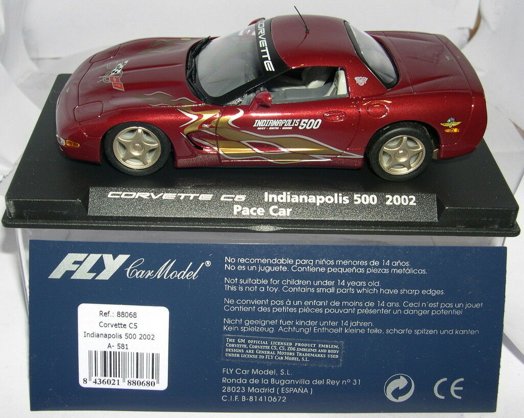 FLY 88068 A-581 CORVETTE C5 INDIANAPOLIS 500 2002 PACE CAR MB