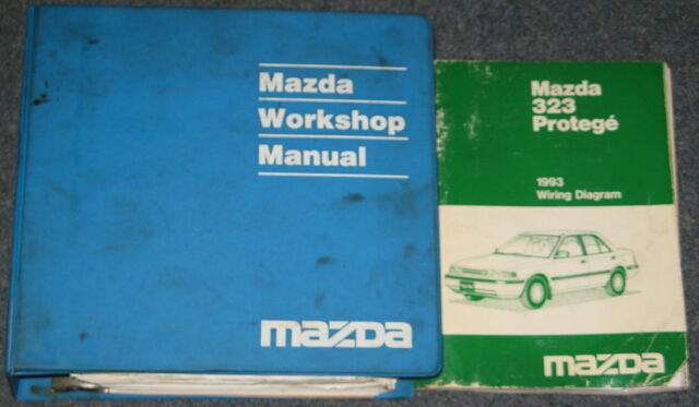 1993 Mazda 323 Protege Service Workshop Manual Set