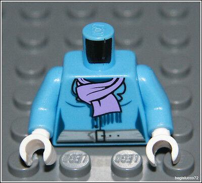 Lego City x1 Medium Blue Jacket Torso Purple Scarf Belt Girl Minifigure NEW