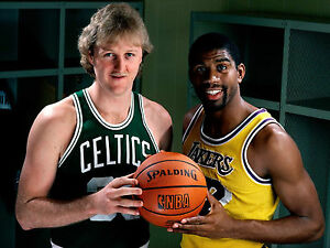 cheap for discount b5995 15591 Details about LARRY BIRD & MAGIC JOHNSON L.A. LAKERS BOSTON CELTICS NBA  STARS POSTER #1