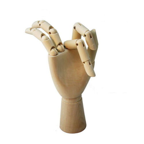 7//10//12* Wooden Hand Drawing Mannequin Hand Movable Limbs Human Artist Mode TK