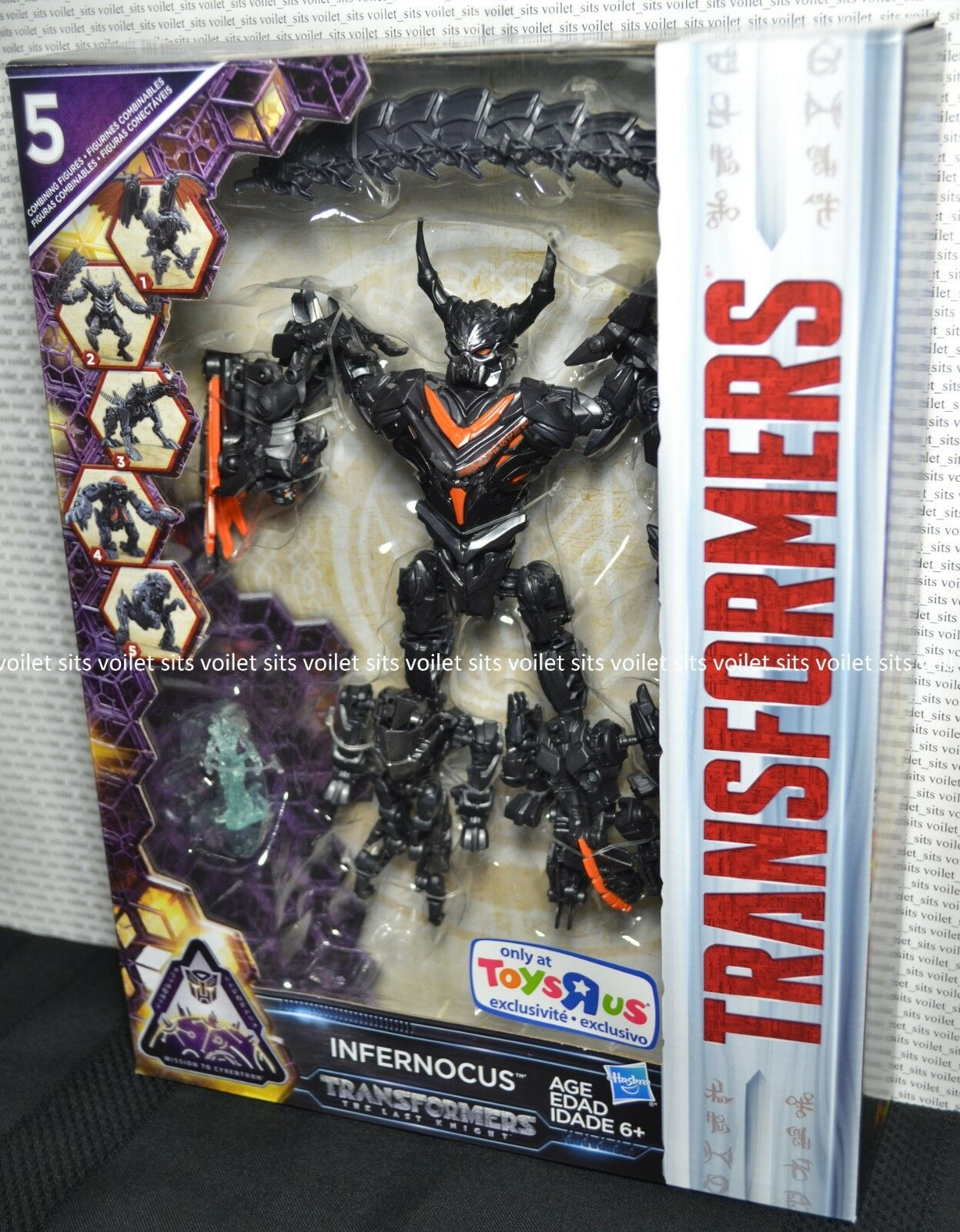 Transformers Last Knight Mission To Cybertron 5-Bot Combiner Figure Infernocus