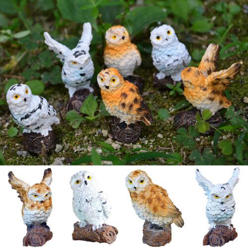 Bonsai Adornment Owls Figurines Simulation Birds Fairy Garden Miniatures Animal