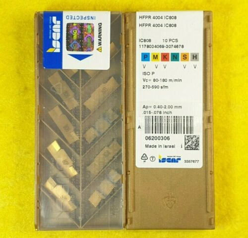 Iscar HFPR 4004 IC808; 10 inserts//box
