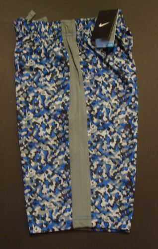 NWT Nike Boy/'s Dri-Fit Camo Fly Training Shorts Size L Blue//Grey 823900