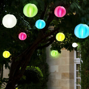 Led Solar Lichterkette Aussen Leuchte Lampion Girlande Garten Party