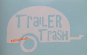 Camping Decal Funny Trailer Trash Camper RV Retirement Campground Window Sticker