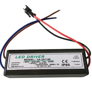 18-24 Watt 300mA Constant Current Power LED Driver Dimmable AC85-265V IN