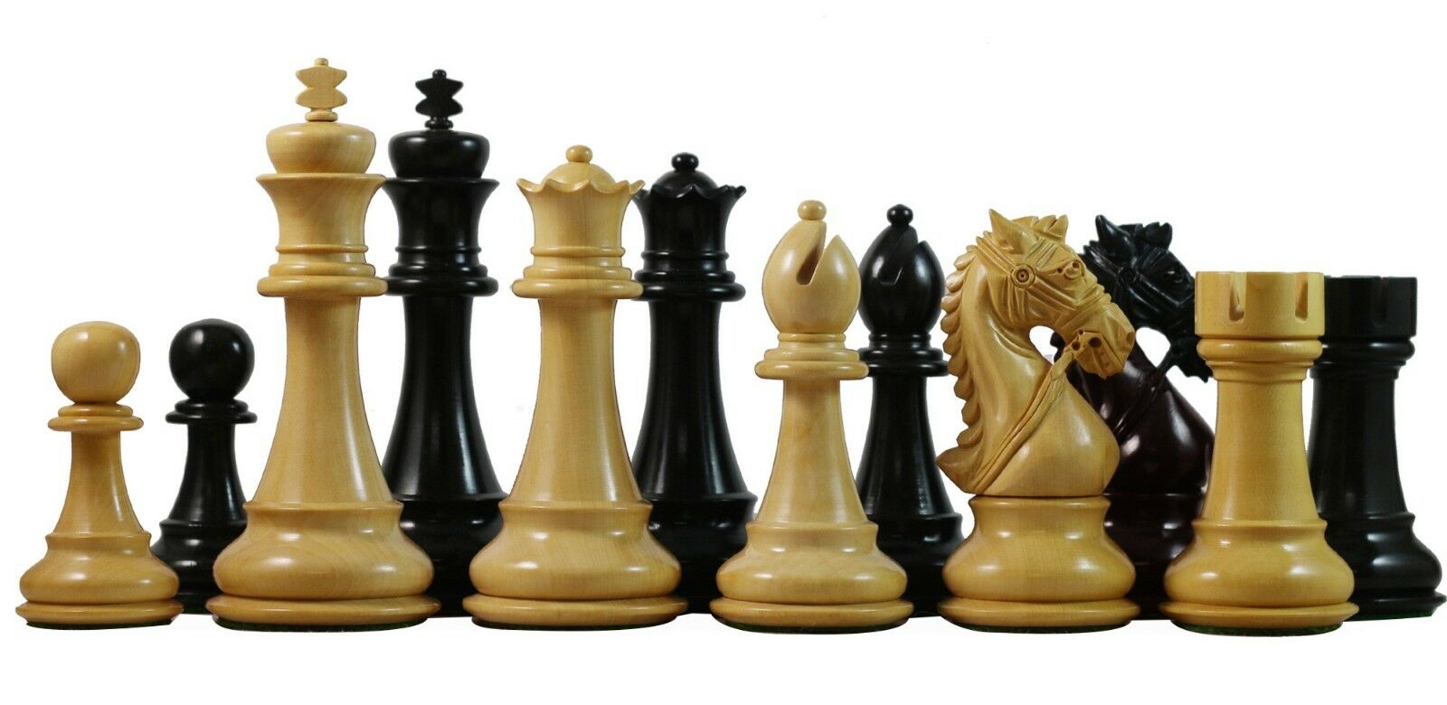 Bridle Series Premium Staunton 4.4  Chess Set in ebony wood