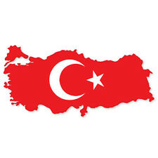 "TURKEY Turkiye Map car bumper sticker decal 6"" x 3"""