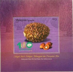 Malaysia-Miniature-Sheet-18-05-2017-100th-Ann-of-M-039-sian-Oil-Palm-Industry