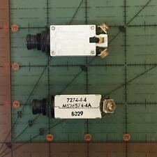 Klixon Circuit Breaker MS26574-4A 4 Amp 7274-4 Sensata NOS Free Shipping