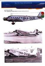 Hungarian Aero Decals 1/48 JUNKERS Ju-52/3m HA-DUR Miklos Horthy Plane