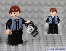 LEGO - Peter Parker w/ Camera Minifigure Spiderman Sand Blue Zipper Vest 4856
