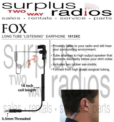 New Fox EP1013XC Long Tube Listening Earphone for Motorola Radios