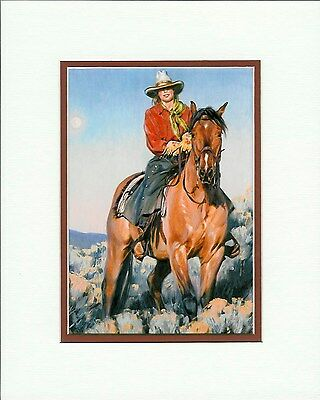 Cowgirl by Terri Kelly Moyers Cowgirl Western Double Matted fits 8x10 frame